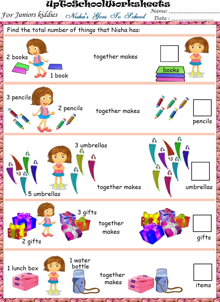 ... Fun based Maths Concepts Worksheets : Lower KG (40 Worksheets